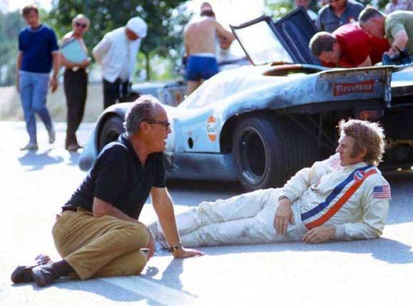 جان استرجس و استیو مککویین سر صحنهی Le Mans